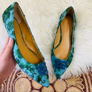Pilcro and the Letterpress Pointed Toe Flats